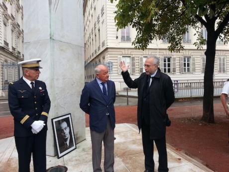 Jean-Yves Sécheresse, Jean Dagay et un membre du détachement 942 - Photo LyonMag