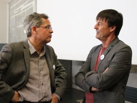 Nicolas Hulot, lors d'un débat en mars dernier à l'université Lyon 3 - LyonMag