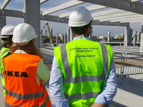 Sur le chantier du futur Ikea de Parilly - LyonMag