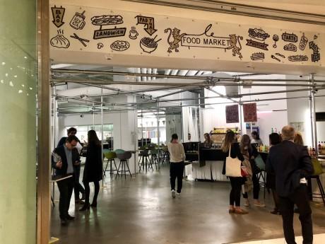 L'entrée du Food Market - Lyonmag