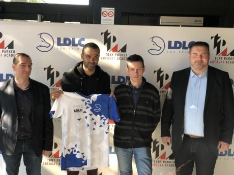 (De gauche à droite) Stéphan Euthine, Tony Parker, Laurent de la Clergerie, Xavier Lucas - LyonMag
