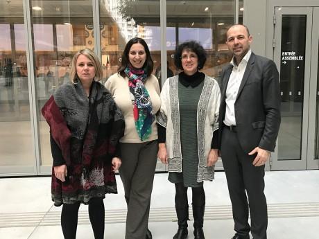 Cécile Cukierman, Sarah Boukaala, Monique Cosson et Jean-François Debat - DR