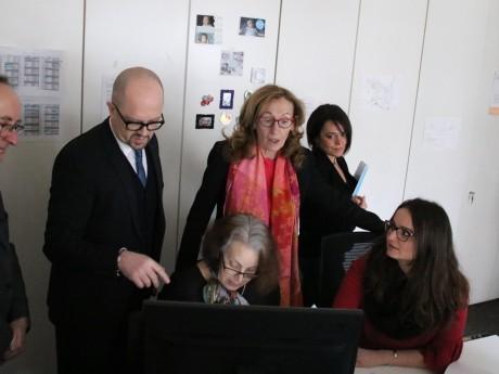 Nicole Belloubet, au centre, lors de sa visite ce jeudi à Lyon - LyonMag