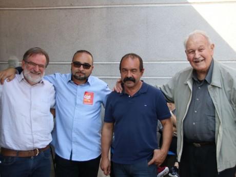 Philippe Martinez, avec notamment à sa droite Joao Pereira-Afonso, leader de la CGT 69 - LyonMag