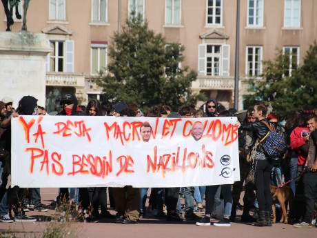 Une précédente manifestation contre l'extrême-droite (ici le Gud) à Lyon - LyonMag