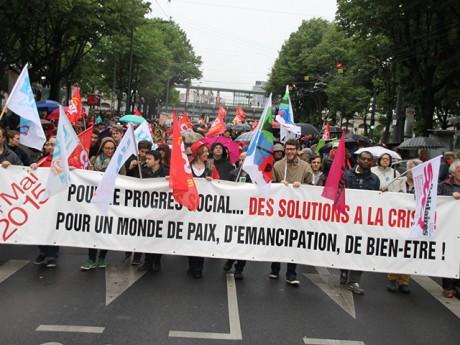 Le cortège du 1er mai en 2015 - LyonMag