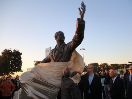 La statue inaugurée ce mercredi soir - LyonMag