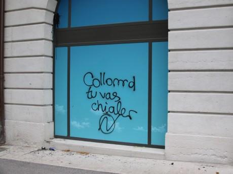 L'Hôtel-Dieu avait été tagué lors de la manifestation - LyonMag