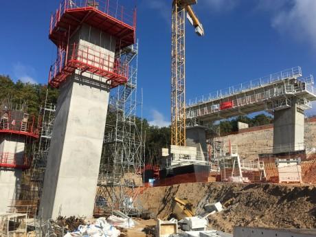 Le viaduc en construction - LyonMag