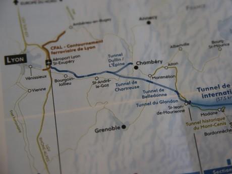 Le trajet de la future liaison Lyon-Turin- LyonMag