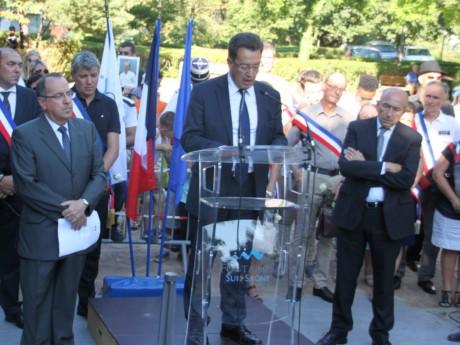 Philippe Cochet, lors de l'hommage à Hervé Cornara à Fontaines - LyonMag