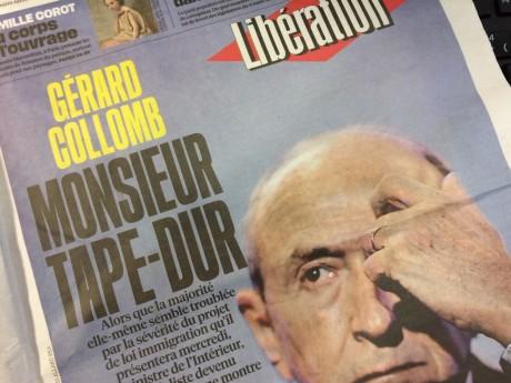La Une de Libération ce lundi - LyonMag