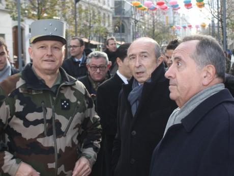Le gouverneur militaire de Lyon, Gérard Collomb et Michel Delpuech - LyonMag