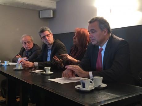 Maurice Iacovella, Christophe Geourjon, Djida Tazdaït et Denis Broliquier - LyonMag
