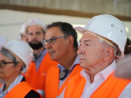 Gérard Collomb en tenue de chantier ce mardi - LyonMag