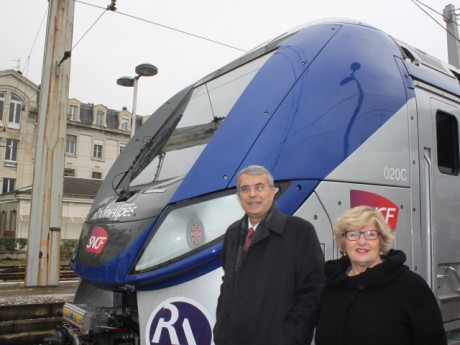 Jean-Jack Queyranne et Eliane Giraud, sa vice-présidente chargée des Transports - LyonMag