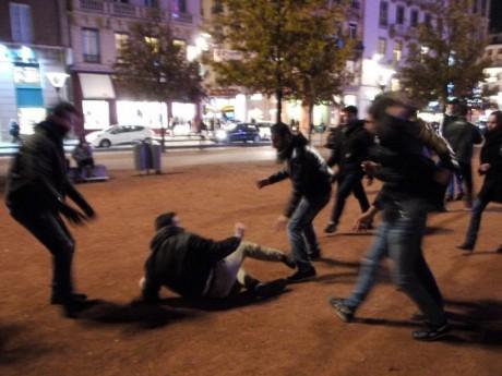 Des coups ont été échangés entre manifestants et membres de l'Action Française - LyonMag