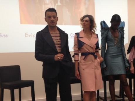 Point presse sur l'évenement mode, Eric Tibusch, Caroline Cléry et Marie N'Dao (de gauche à droite) - LyonMag