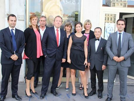 Christophe Boudot (au centre), entouré des membres de sa liste Bleu Marine - LyonMag