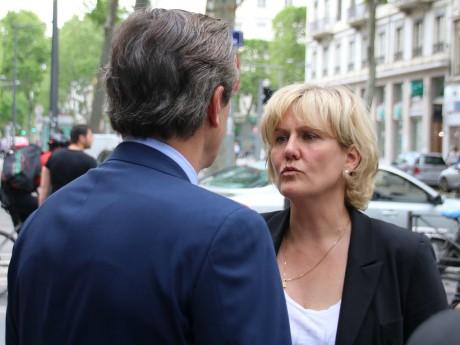 Nadine Morano, ici avec Pascal Blache, de dos - LyonMag