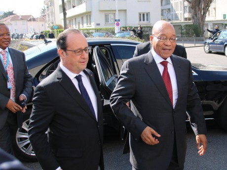 François Hollande et Jacob Zuma - LyonMag