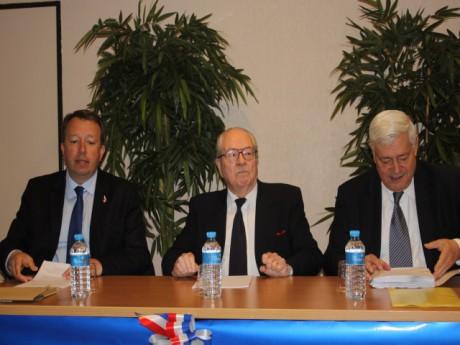 Christophe Boudot, Jean-Marie Le Pen et Bruno Gollnisch - LyonMag