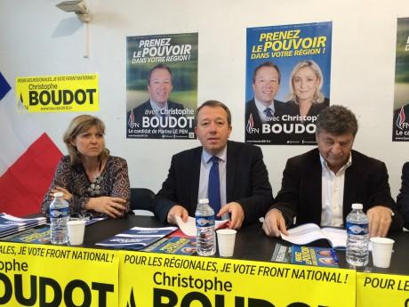 Christophe Boudot, entouré de Muriel Coativy et Pierre Delacroix - LyonMag