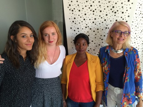 Quatre des cinq ambassadrices de la ligne 7 - LyonMag