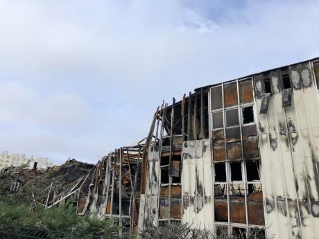 Le site Bel Air Camp, ravagé par les flammes le 8 octobre dernier - LyonMag.com