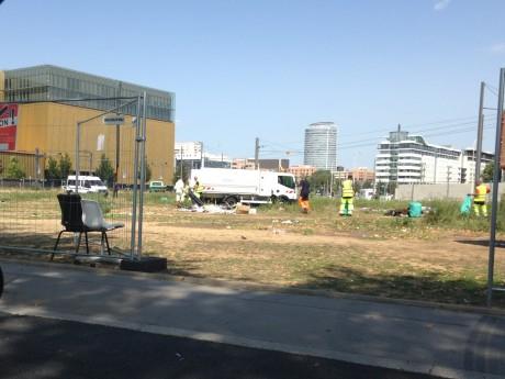 Le terrain est en cours de nettoyage - LyonMag