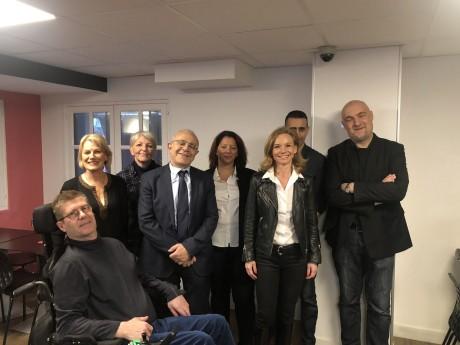 Karine Gaudinet-Guérin (à droite) et une partie de sa liste - LyonMag