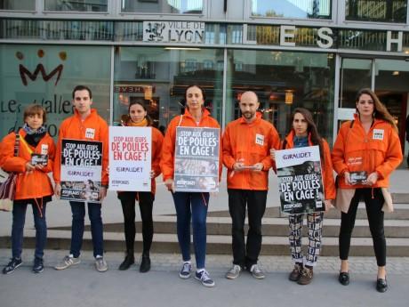 Les militants de L214 ce mardi - LyonMag