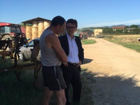 Pascal Charmot lors de sa rencontre avec Jean-Marc Faye ce jeudi - DR
