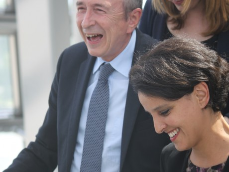 Gérard Collomb et Najat Vallaud-Belkacem ce lundi au musée des Confluences - LyonMag