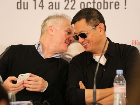 Thierry Frémaux, plutôt lunatique ce samedi aux côtés de Wong Kar-Wai - LyonMag