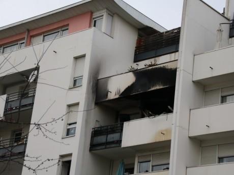 L'appartement touché par l'incendie - LyonMag