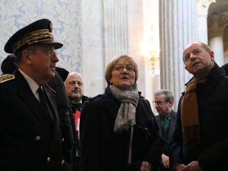 Le préfet du Rhône, la procureure générale Sylvie Moisson et le ministre Jean-Jacques Urvoas jeudi - LyonMag