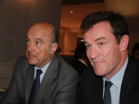 Alain Juppé et Michel Havard ce mercredi à Lyon - LyonMag