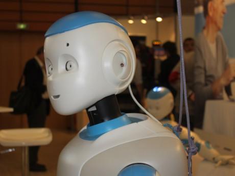 Le robot Romeo, l'un des robots stars d'Innorobo 2014. Photo Lyonmag.com