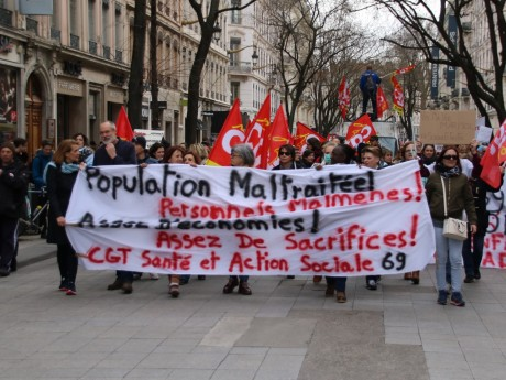 Manifestation de ce mardi 07 mars - LyonMag