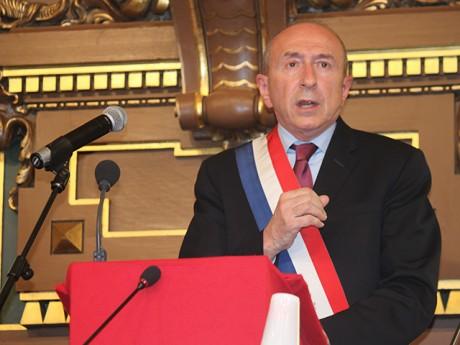 Gérard Collomb lors de son élection en 2014 - LyonMag