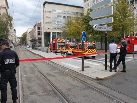 Le tribunal, ici lors d'une précédente évacuation suite à une fausse alerte - LyonMag