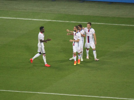 La joie des Lyonnais après le troisième but - LyonMag