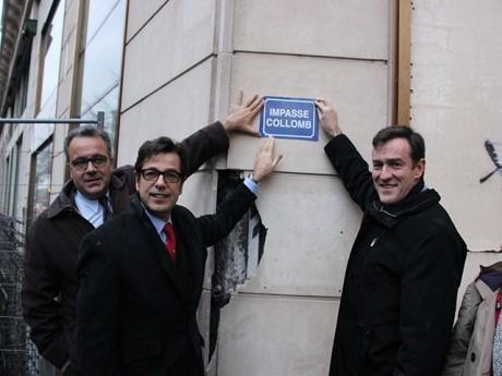 Broliquier, Hamelin et Havard inaugurent l'impasse Collomb - LyonMag