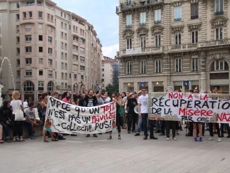 C'est lors de cette manifestation contre le GUD que l'homme a été de nouveau interpellé - LyonMag