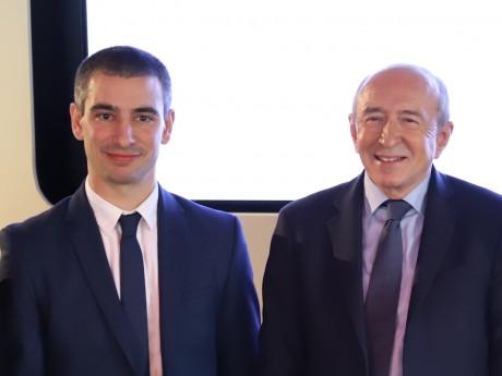 Yann Cucherat et Gérard Collomb - LyonMag