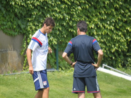 Yoann Gourcuff, en discussion avec Hubert Fournier - LyonMag