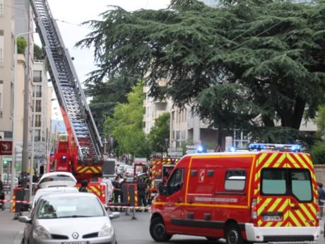 C'est dans cet immeuble que l'incendie s'est déclaré - LyonMag