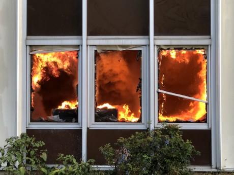 L'incendie de Bel Air Camp à Villeurbanne - DR/SDMIS69