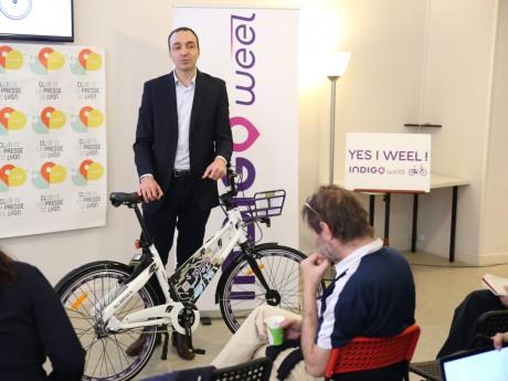 Jean Gadrat lors de la présentation d'Indigo Weel à la presse - LyonMag